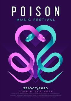 Elektronische muziek poster sjabloon