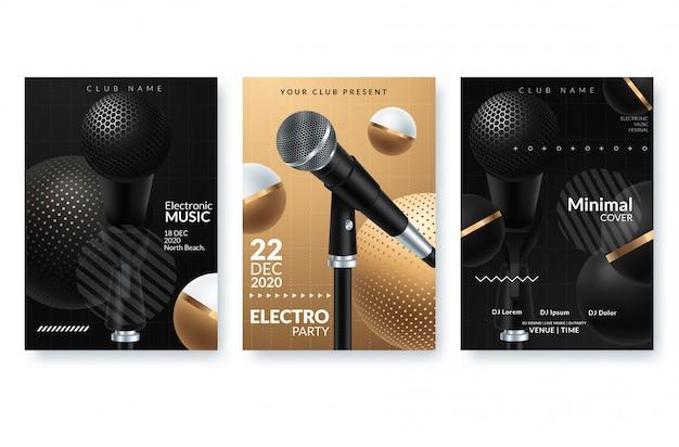 Elektronische muziekfestival reclameaffiche.