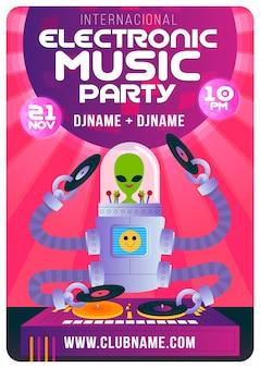 Elektronische muziekfestivalaffiche