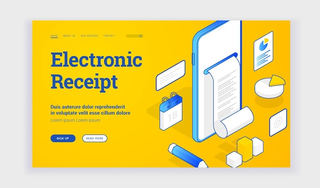 Elektronische ontvangst website