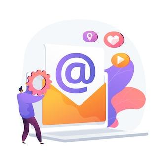 Elektronische post. e-mails ontvangen en verzenden. berichten uitwisselen via elektronisch apparaat. internetverbinding, communicatie, correspondentie.