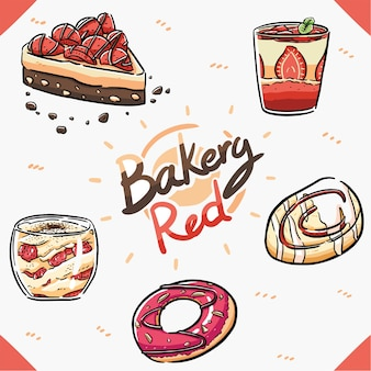 Element bakkerij rood item