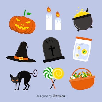 Element collectie voor platte halloween accessoires