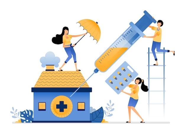Elementaire bescherming van de volksgezondheid in medische instellingen om aan de behoeften van geneesmiddelen en vaccins te voldoen