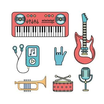 Elementen instellen om te luisteren en muziek te spelen