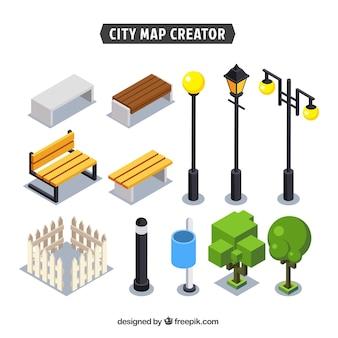 Elementen om een stad te creëren