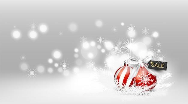 Elementen sneeuwt kerstmis promotie zwarte vrijdag gelukkig nieuwjaar kaart