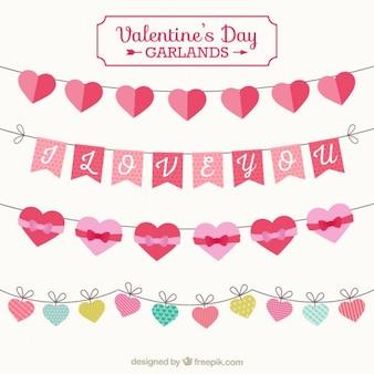 Elementen valentijnsdag slingers