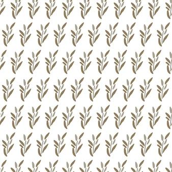 Elementen van bladeren naadloze patroon achtergrond geometrische ornament