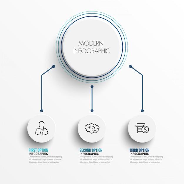 Elementen van infographic met label