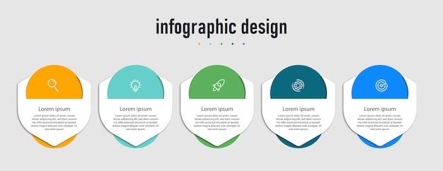 Elementen van infographic ontwerpsjabloon