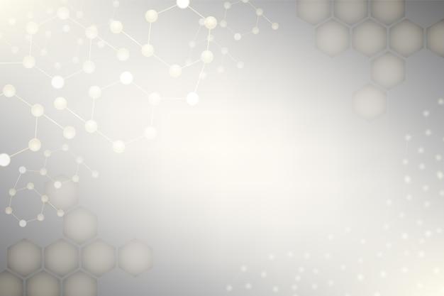 Elementen van moleculair gaas op grijs