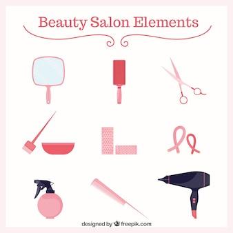Elementen van schoonheidssalon