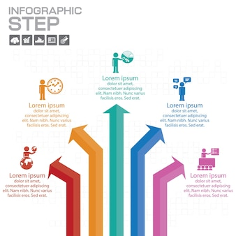 Elementen voor de infographic. sjabloon voor diagram, grafiek, presentatie en grafiek. bedrijfsconcept met 5 opties, onderdelen, stappen of processen.