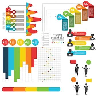 Elementen voor infographic instellen
