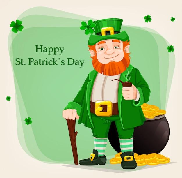 Elf van ierse folklore. happy saint patrick's day