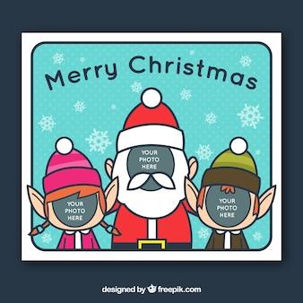 Elfjes en de kerstman fotosjabloon