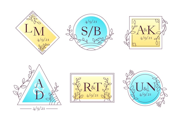 Elgant bruiloft monogrammen stijl