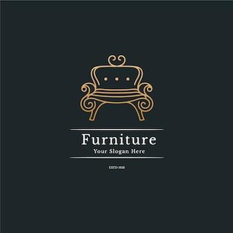 Elgant meubelen logo concept