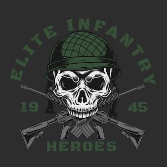 Elite infanterie schedel