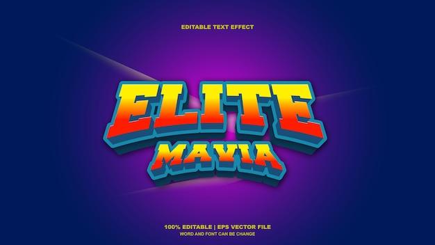 Elite mavia-teksteffect