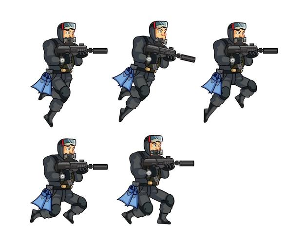 Elite special force frogman game sprite
