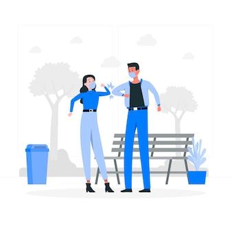 Elleboog bult concept illustratie