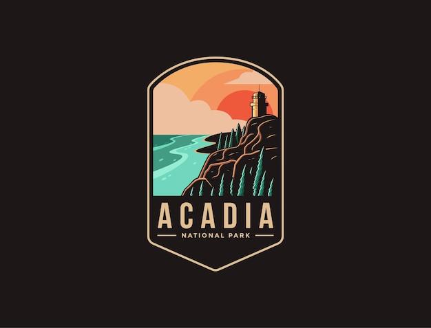 Embleem patch logo van acadia national park