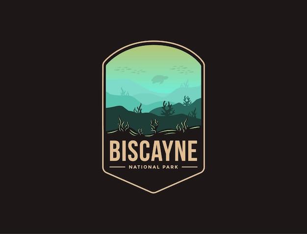 Embleem patch logo van biscayne national park