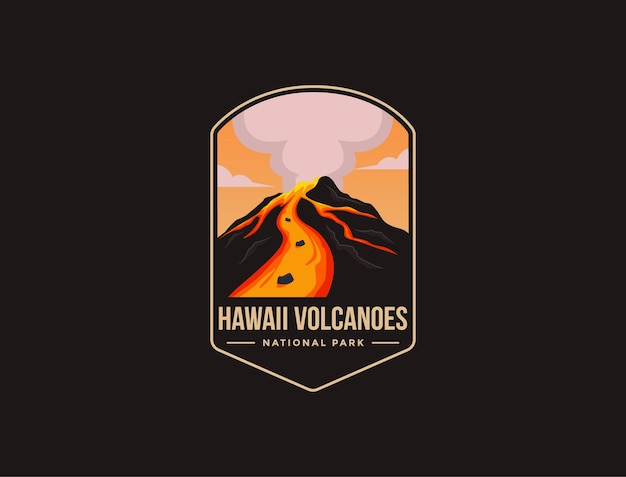 Embleem patch logo van hawaii volcanoes national park