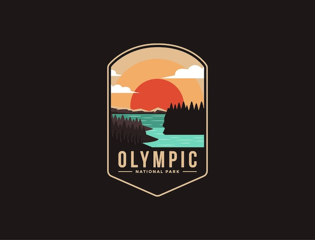 Embleem patch logo van olympic national park