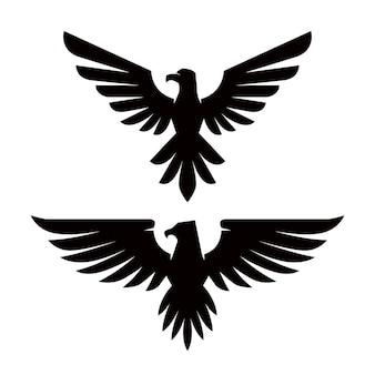 Embleem sjabloon met adelaar in gravurestijl