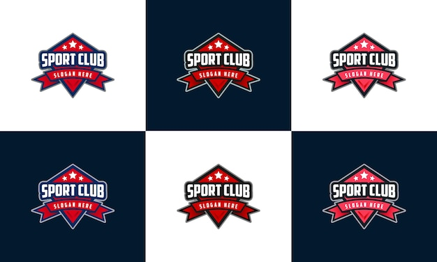 Embleem sport logo, set badge esport logo sjabloon