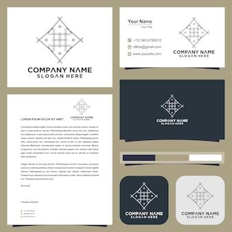 Embleem voor luxe boetieks logo en visitekaartje premium