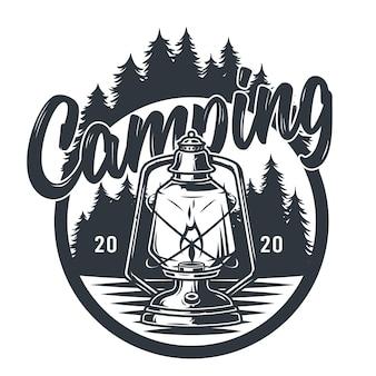 Embleem wild camping petroleumlamp paraffine lantaarn