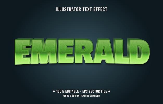 Emerald bewerkbaar teksteffect moderne verloopstijl