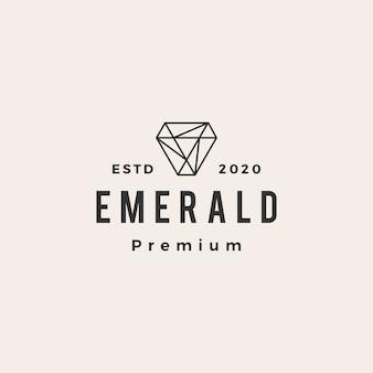 Emerald edelsteen hipster vintage logo
