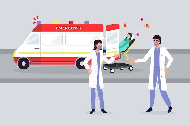 Emergency ambulance concept