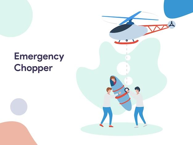 Emergency chopper illustratie
