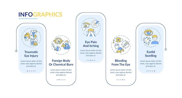 Emergency oogonderzoek redenen infographic sjabloon