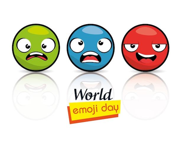 Emoji emoticon karakter achtergrond-collectie