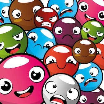 Emoji emoticon naadloze patroon achtergrond