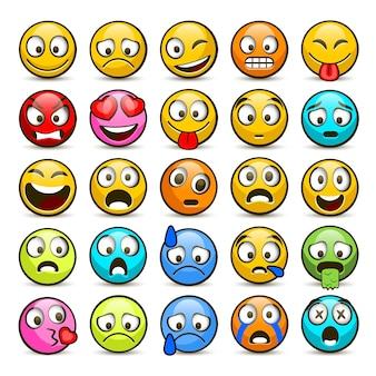 Emoji en verdrietig pictogramserie.