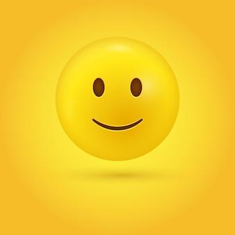 Emoji-gezicht met een lichte smiley