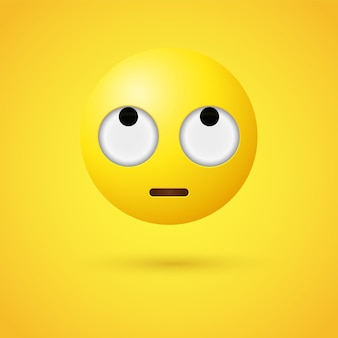 Emoji-gezicht met rollende ogen of 3d emoticon opzoeken