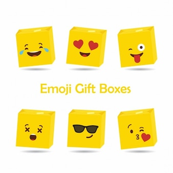 Emoji gift boxes