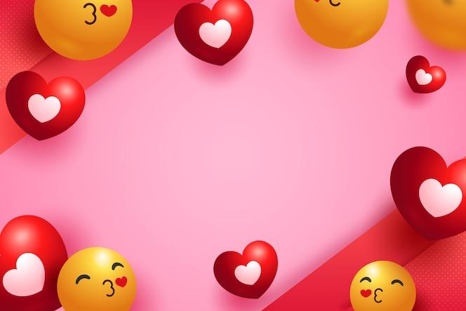 emoji hou van achtergrond