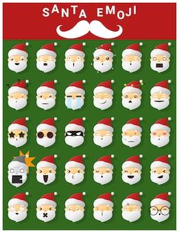 Emoji iconen van de kerstman