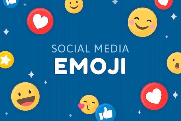 Emoji ingelijste achtergrond