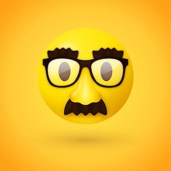 Emoji met vermomd gezicht